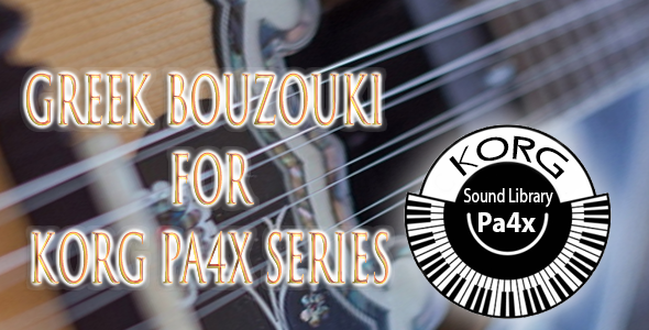greek bouzouki for PA3X and PA4X Series